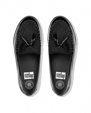 Black PAIGE FAUX-PONY MOCCASINを見る