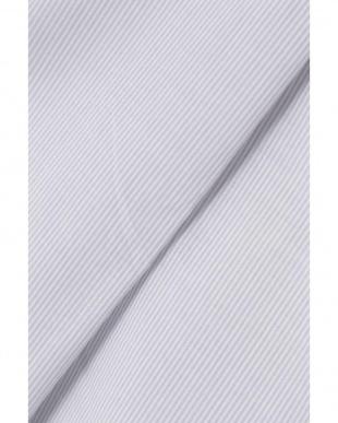 ライトグレー細stripe1 ローンストライプブラウス ヒューマン ウーマンを見る