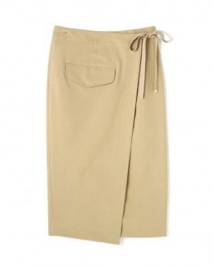 ベージュ [helder]Wrap tight skirt アッシュスタンダードを見る