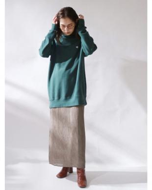 ベージュ ランダムプリーツマキシスカート Ungridを見る