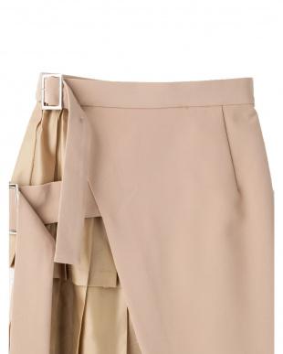 ベージュ ティアードレイヤードスカート UN3D.を見る