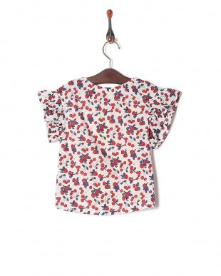 ピンク チェリープリントTシャツを見る