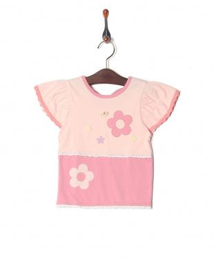 ピンク 切替Tシャツを見る