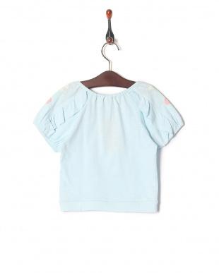 ブルー フラワープリントTシャツを見る