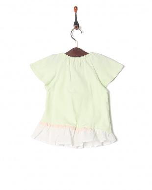 グリーン 袖フリルTシャツを見る