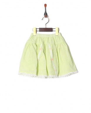 グリーン オーバーレーススカートを見る