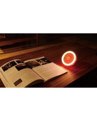 コーラルピンク 充電式LEDクランプファンを見る