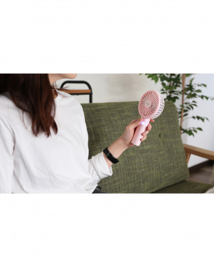 ピンク 光触媒クリーンファンハンディ 充電式を見る