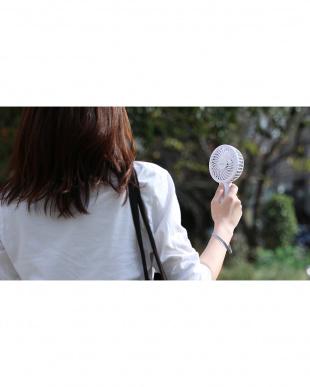 ホワイト 光触媒クリーンファンハンディ 充電式を見る