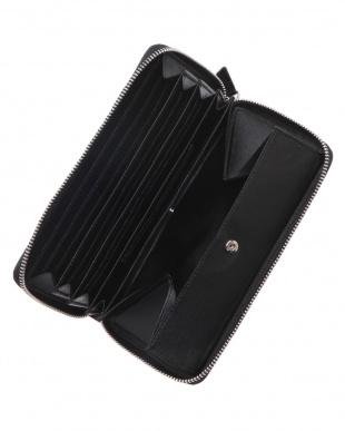 グリ-ン  カイマンワニ革&牛革クロコ型押しラウンドファスナー長財布を見る