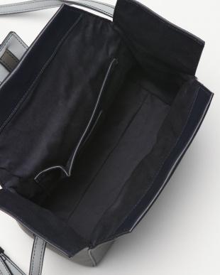 紺系 カラーMIXボックスショルダーバッグを見る