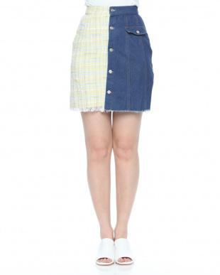 インディゴ ツイードデニムスカートを見る