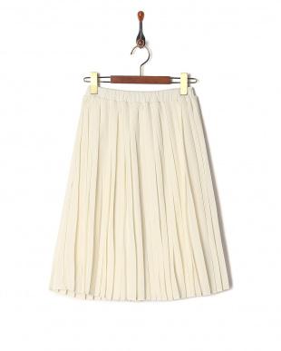 ベージュ レイヤードプリーツスカートを見る