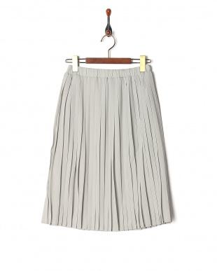 ライトブルー レイヤードプリーツスカートを見る