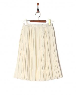 イエロー レイヤードプリーツスカートを見る