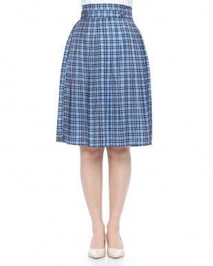 グリーン チェックプリーツスカートを見る