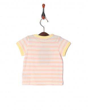 ピンク ベイビーボーダー ベビーS/S Tシャツを見る