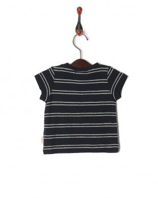 ネイビー マリンロープボーダー ベビーS/S Tシャツを見る