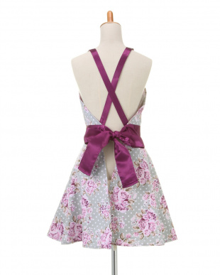 PURPLE VINTAGE FLORAL  Janis Dress Apronを見る