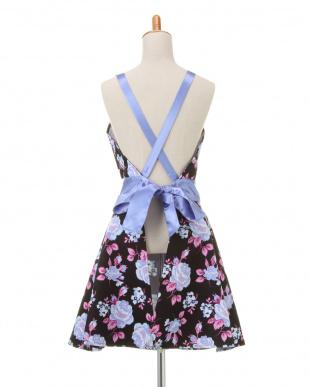RETRO FLORAL BLUE  Janis Dress Apronを見る