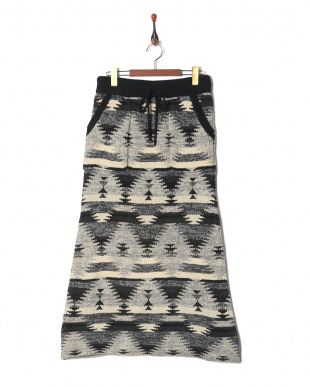 ブラック Knit Navajo Long Skirtを見る