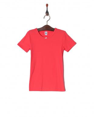 00  カラー&ドット半袖Tシャツ2枚組を見る