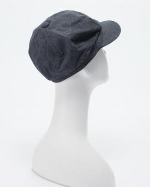 ネイビー UVカットキャスケット帽子を見る