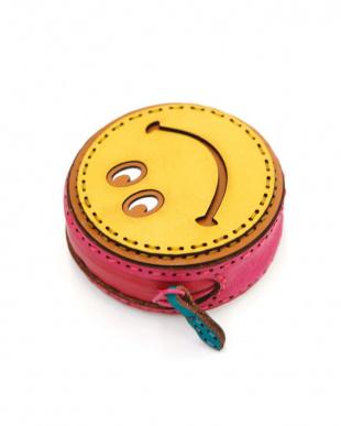 ピンク ハンサムスマイルレザーコインケースを見る