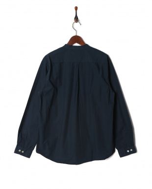 NAVY LOOSE FIT BAND COLLAR SHTを見る