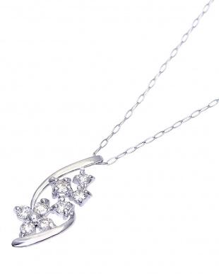 Pt900  天然ダイヤモンド 計0.2ct デザイン ネックレスを見る