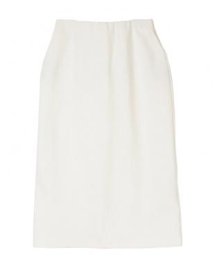 ホワイト ストレッチタイトスカートを見る