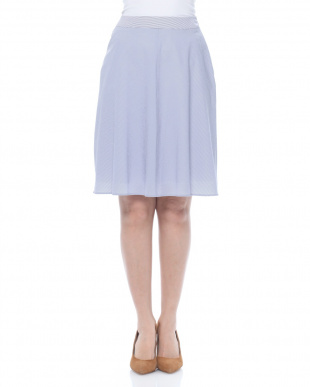 紺 クールマックスサッカーストライプスカートを見る