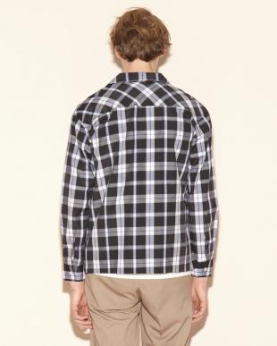 タータン ブラック チェックオープンシャツを見る