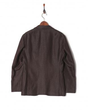 ブラウン  リネンウールマットジャケットを見る