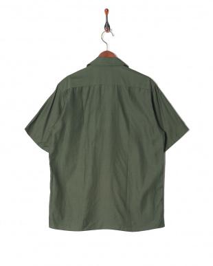 グリーン  キュプラコットン半袖シャツを見る