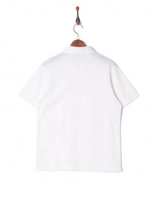 ホワイト コットンハイゲージスキッパーポロシャツを見る