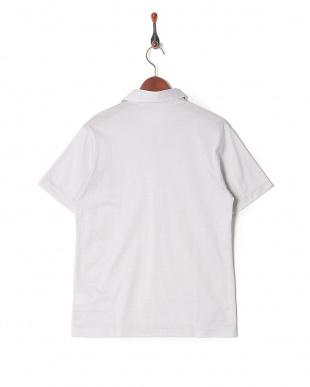 ライトグレー コットンハイゲージスキッパーポロシャツを見る