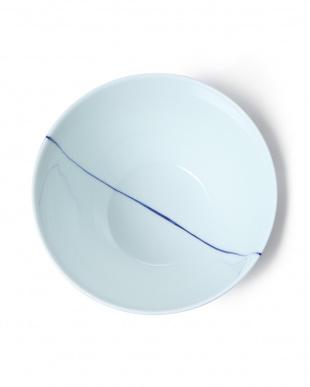 白磁一本線青 朝がゆ丼を見る