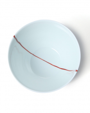 白磁一本線赤 朝がゆ丼を見る