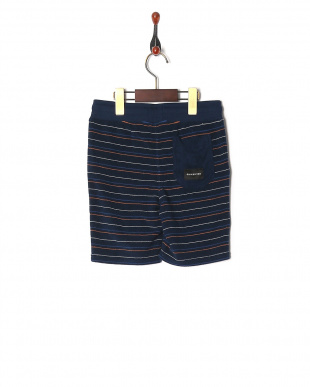 NVY2 STRIPED PILE SHORTSを見る