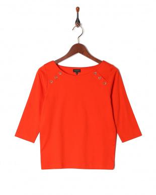 オレンジ 7分袖釦アクセントPOを見る