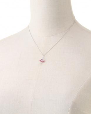 ピンク スワロフスキーセパレートネックレスを見る
