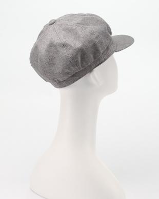 グレー UVカットキャスケット帽子を見る