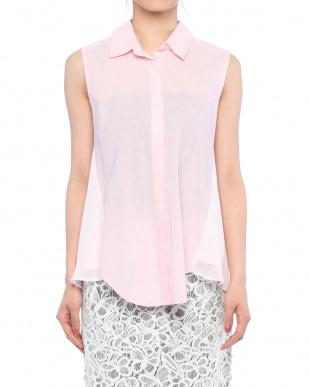 90/無彩色A(ホワイト) 上品異素材MIXシャツを見る