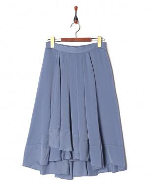 65/青系F(ブルー) 美ヘムドレープスカートを見る