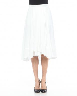 90/無彩色A(ホワイト) 美ヘムドレープスカートを見る