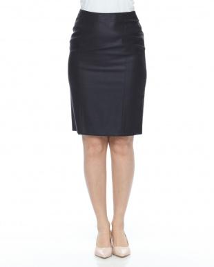紺 トリアセブッチャースカートを見る