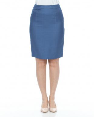 ブルー Wクロススカートを見る