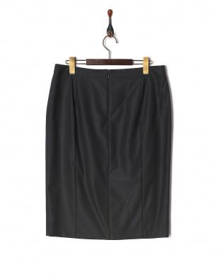 濃紺 シルクウールスカートを見る