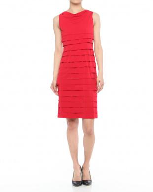 レッド ミルフィーユデザインジャージードレスを見る
